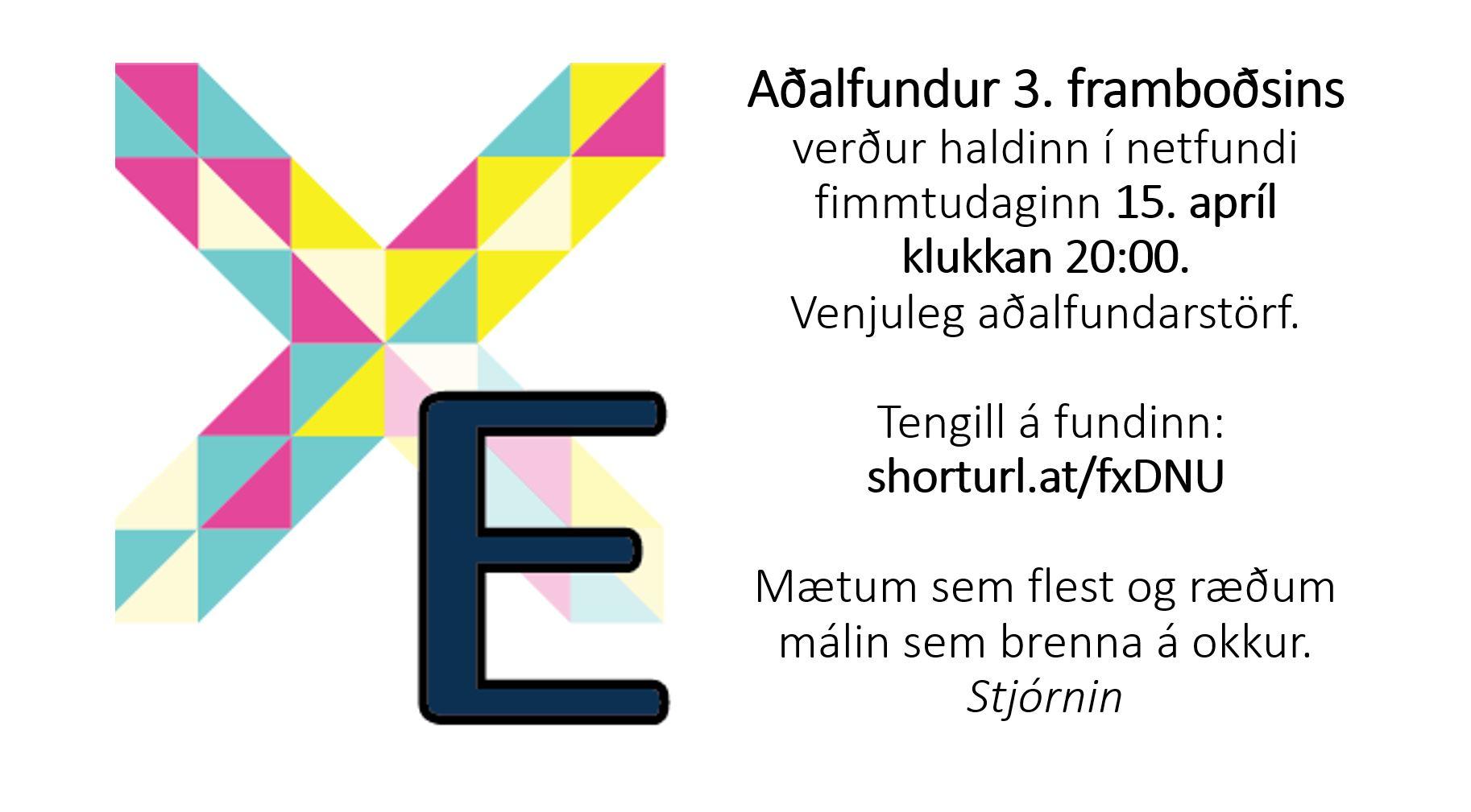 Read more about the article Aðalfundur 3. framboðsins 2021